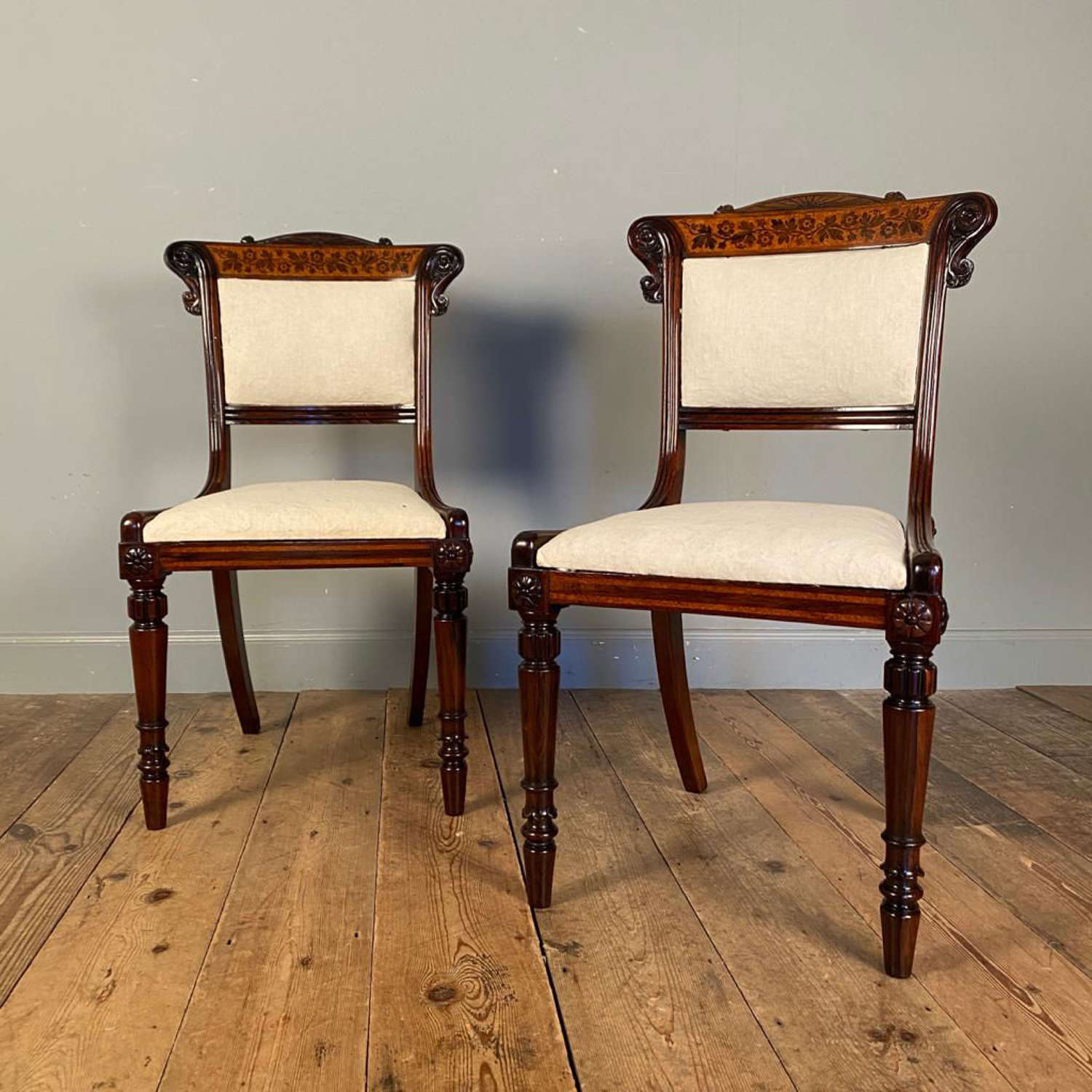 Beautiful Pair of George Bullock Side Chairs