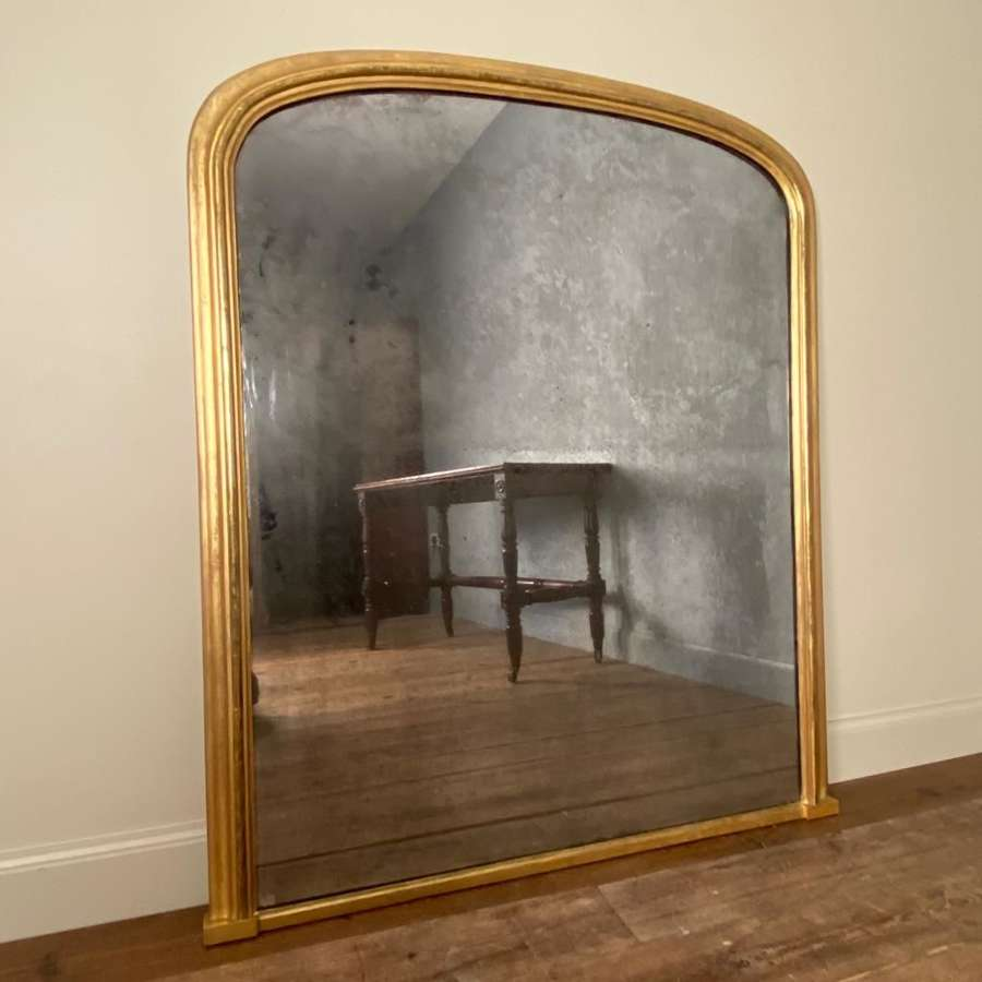 Beautiful 19th Century Giltwood Overmantle Mirror