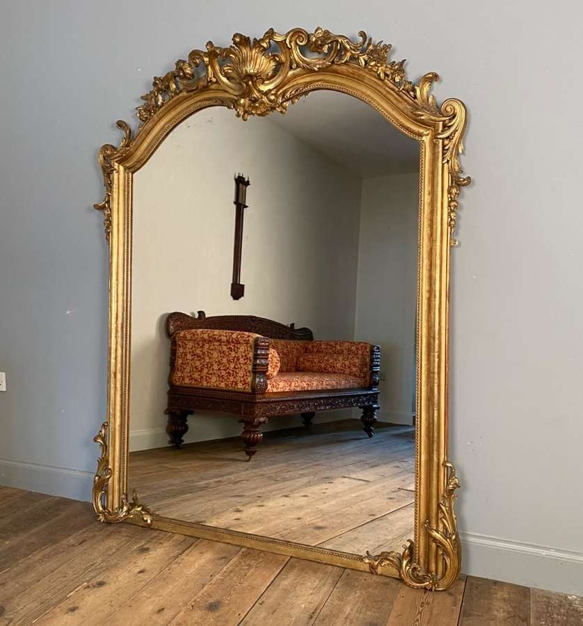 A Large Ornate 19th century Giltwood Mirror