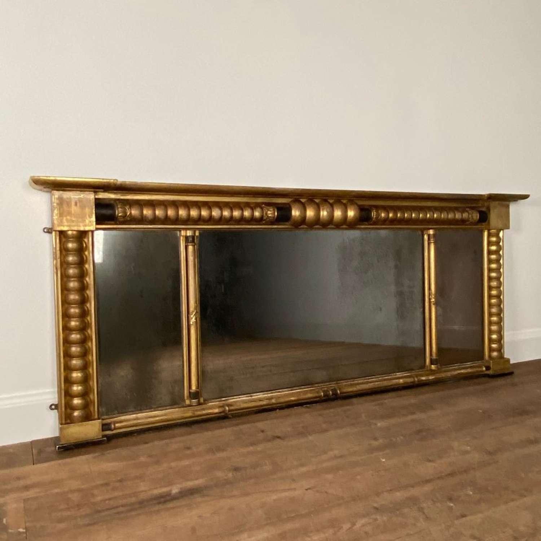 Regency Triple Plate Giltwood Mirror