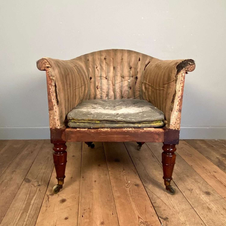 Large George IV Mahogany Tub Chair