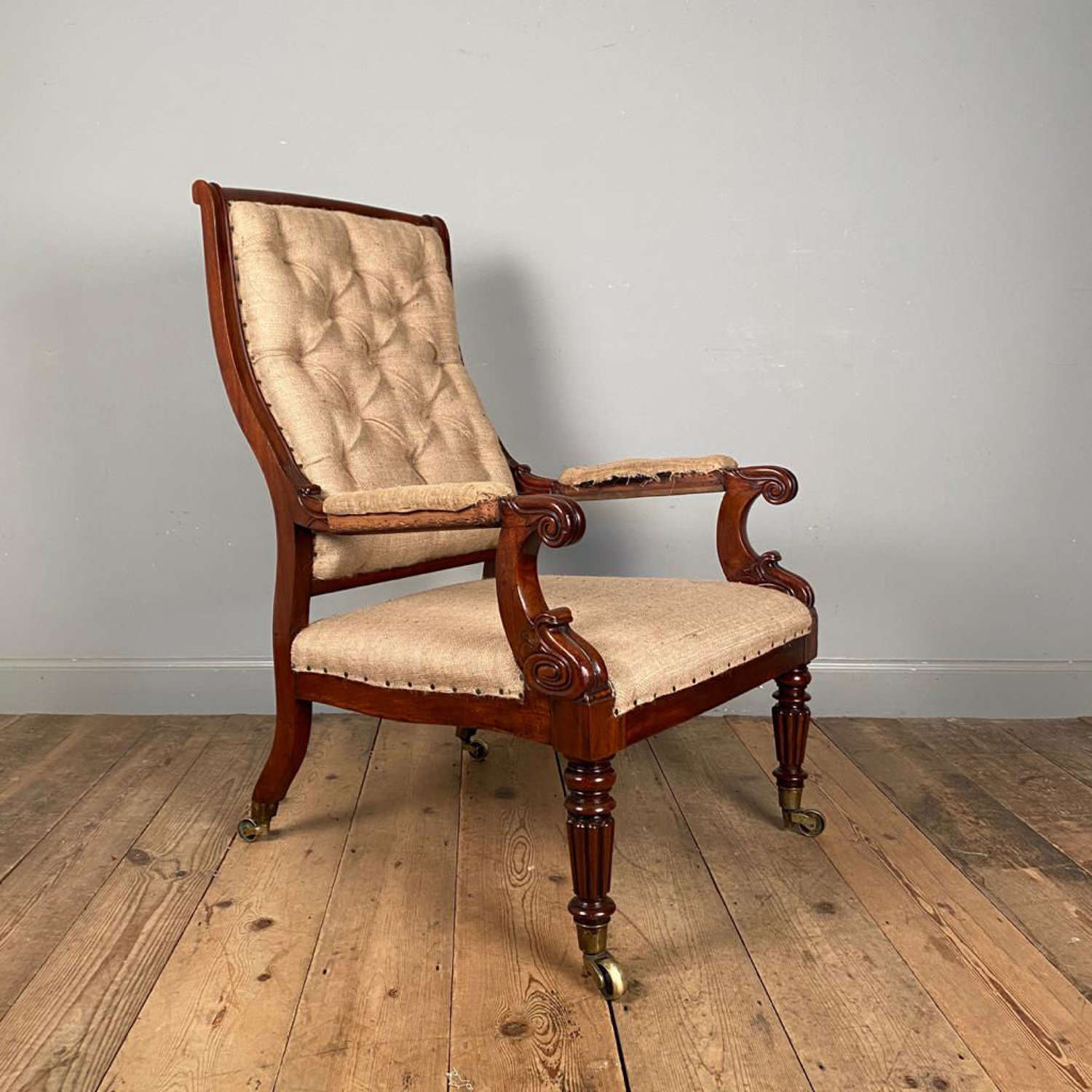 George IV Gillows Mahogany Armchair