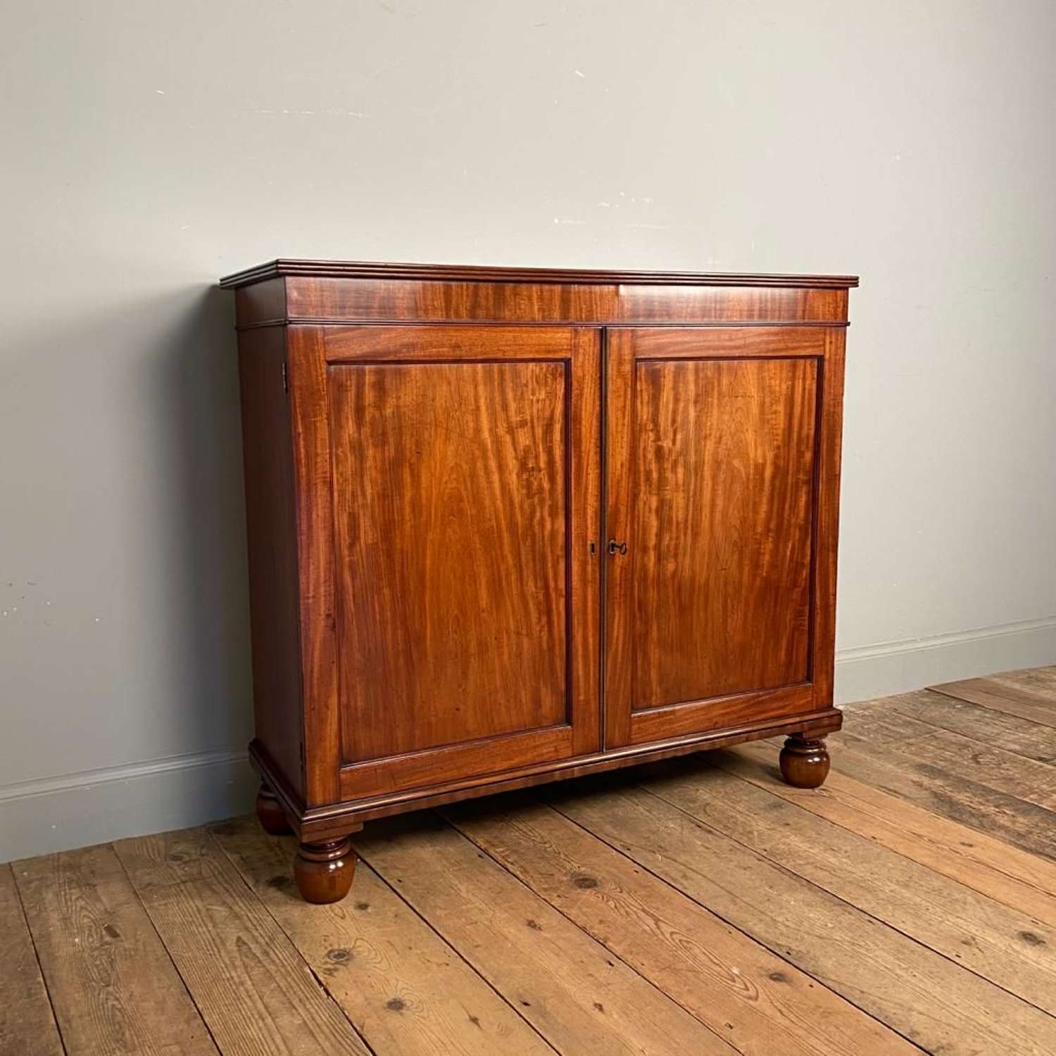 George III Mahogany Dwarf Side Cabinet - In the manner of Gillows