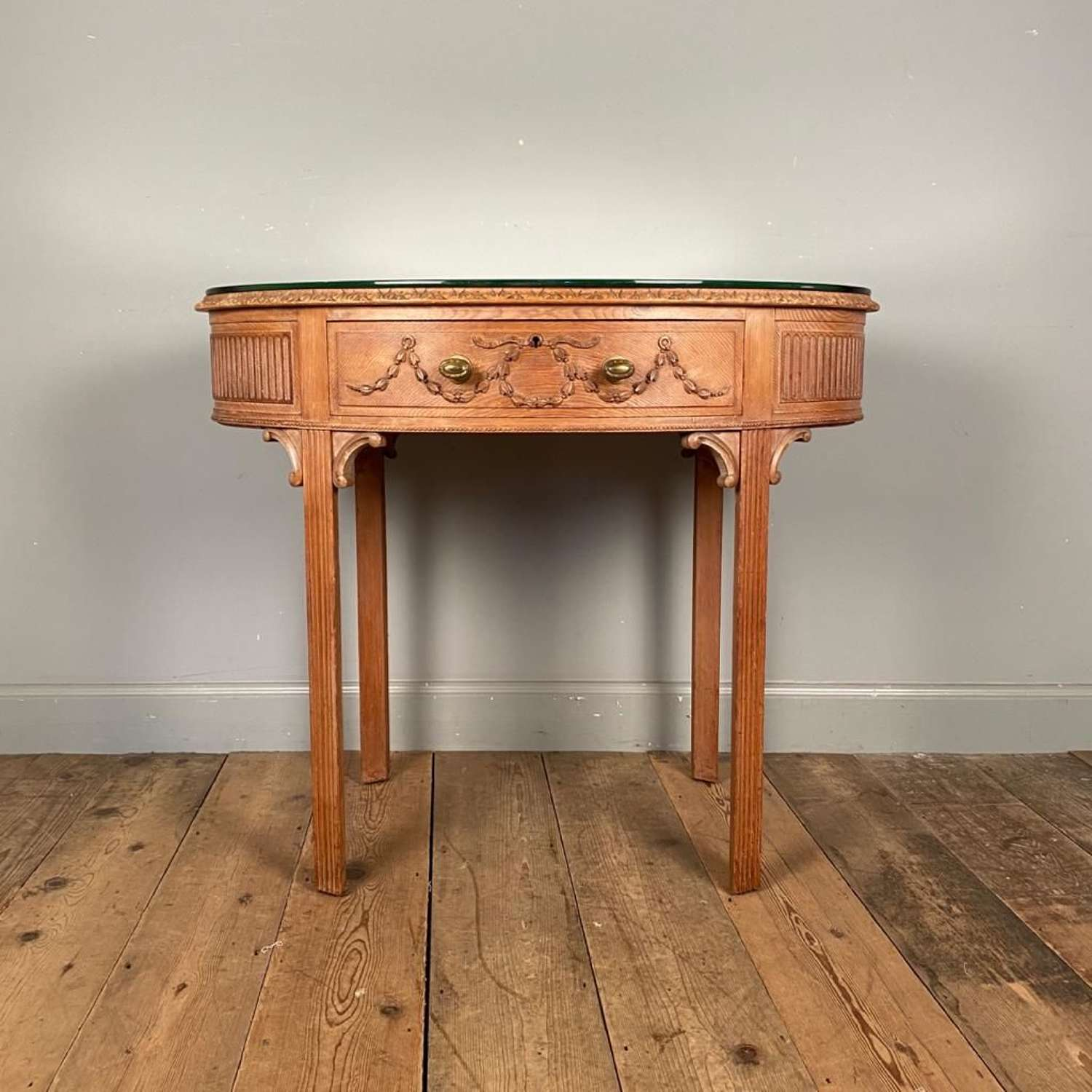 Pretty English Edwardian Mirrored Top Side Table
