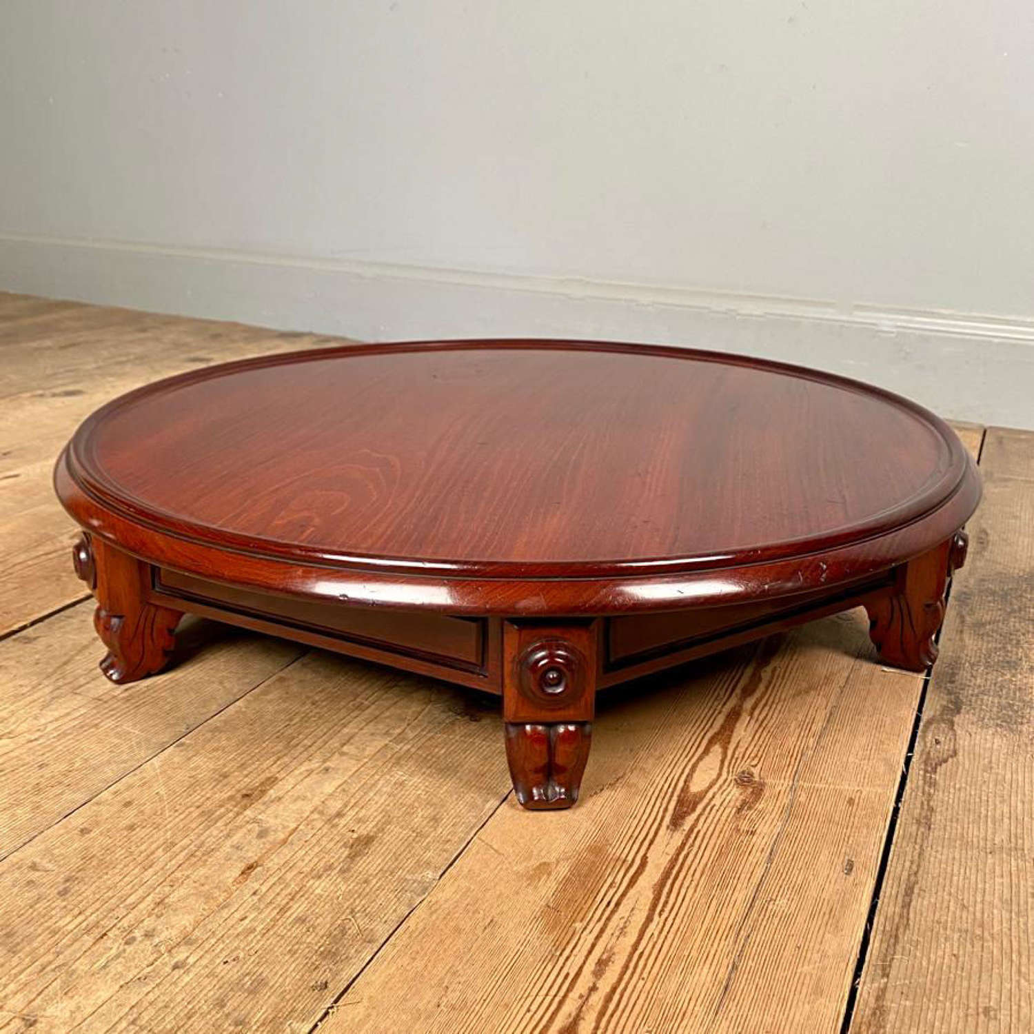 Super Quality Large Mahogany Lazy Susan