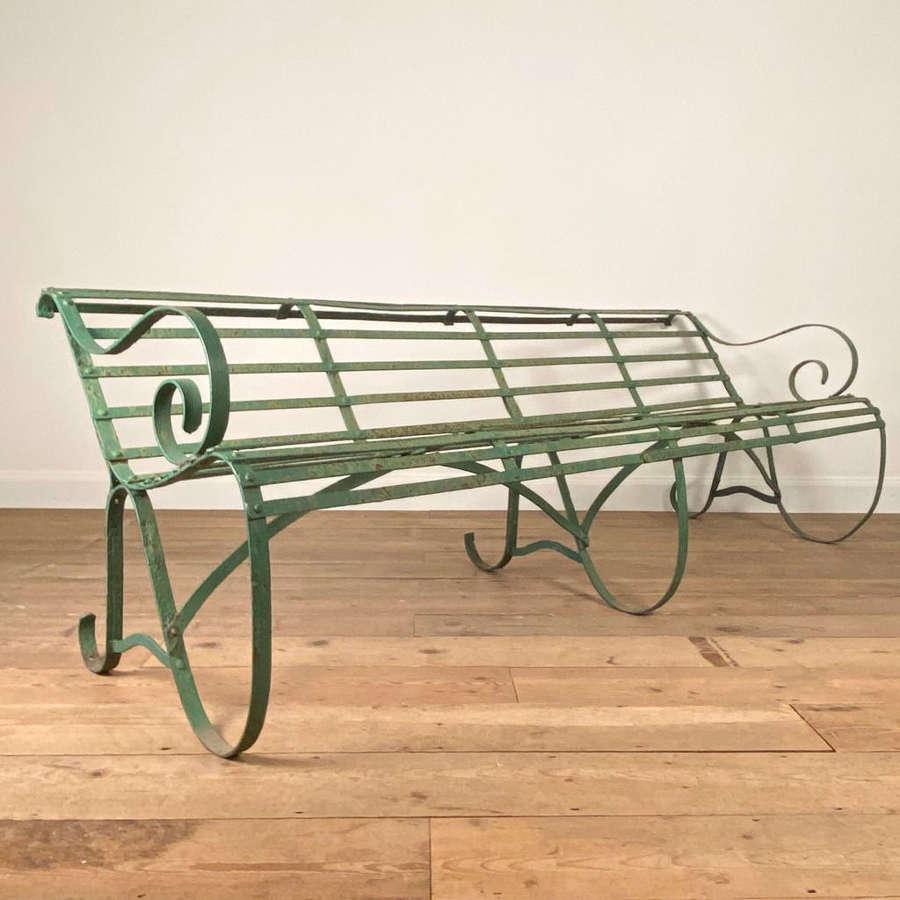 Boulton & Paul Edwardian Strap Work Bench in Original Paint