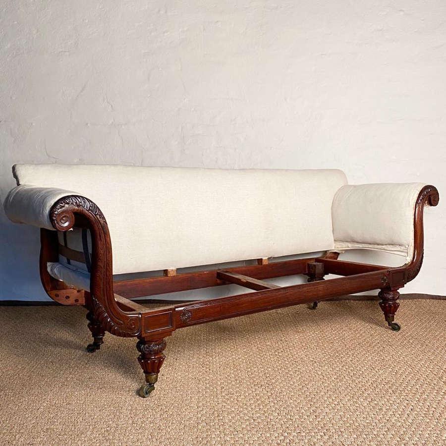George IV Gillows Rosewood Sofa
