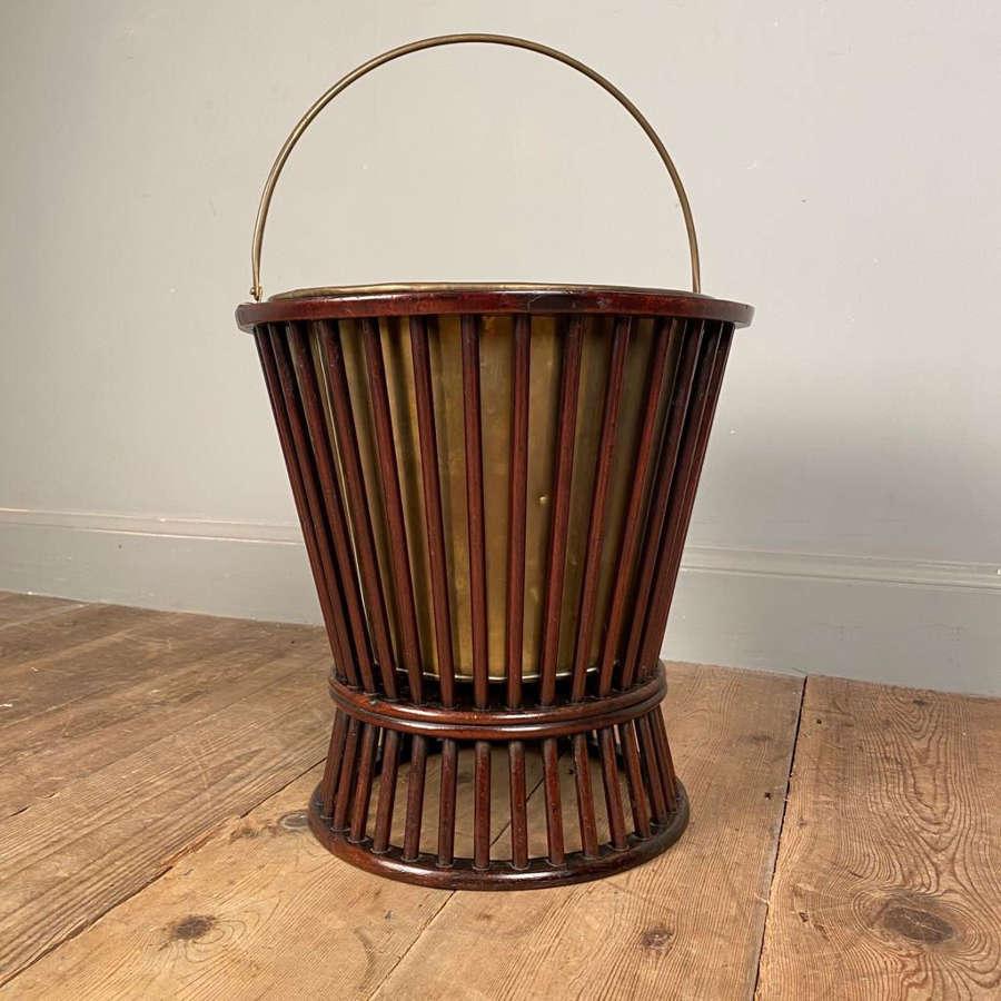 George III Mahogany Peat Bucket