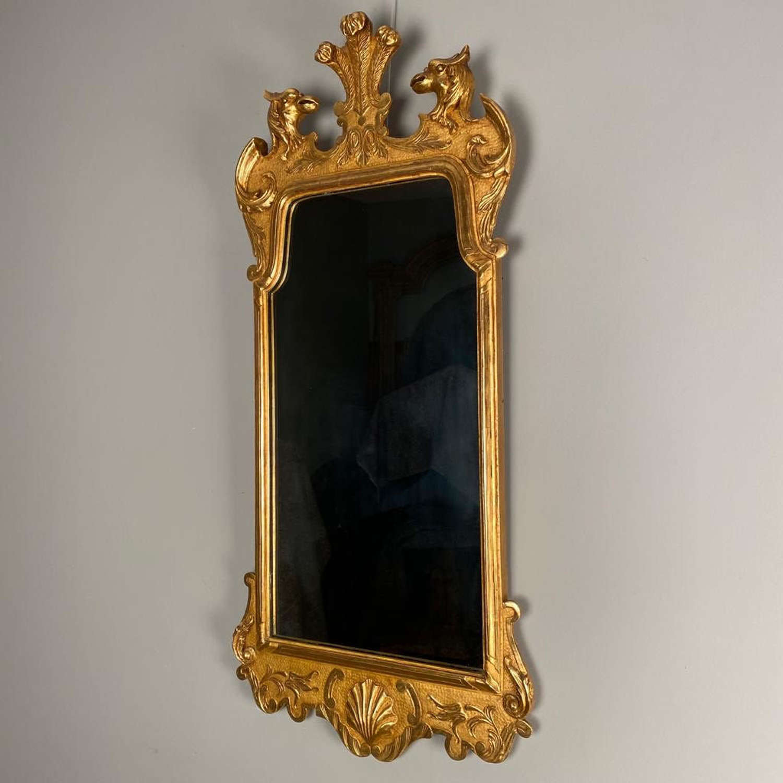 George II Giltwood Style Wall Mirror