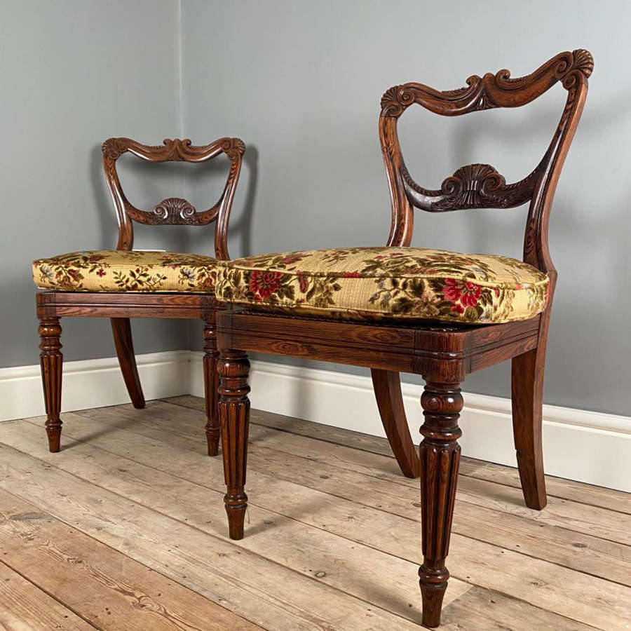Superb Pair of George IV Simulated Rosewood Chairs