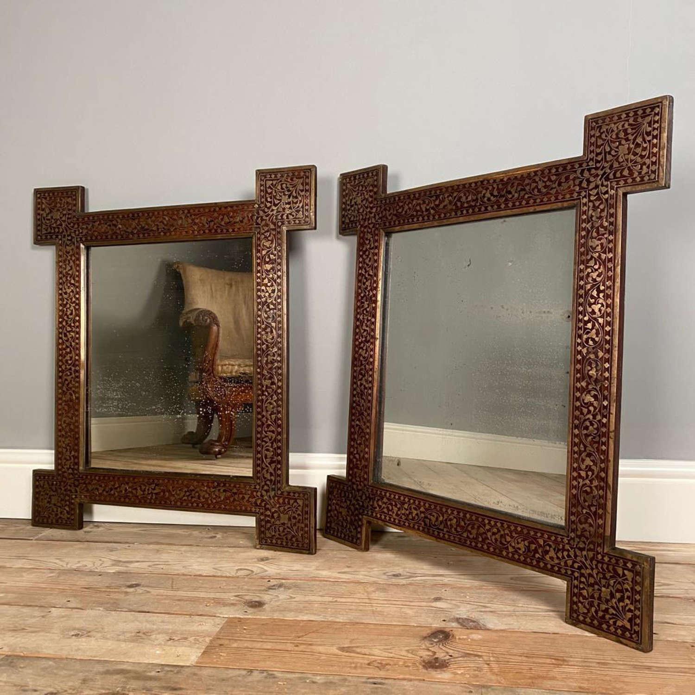 A Pair of Hoshiarpur Mirrors