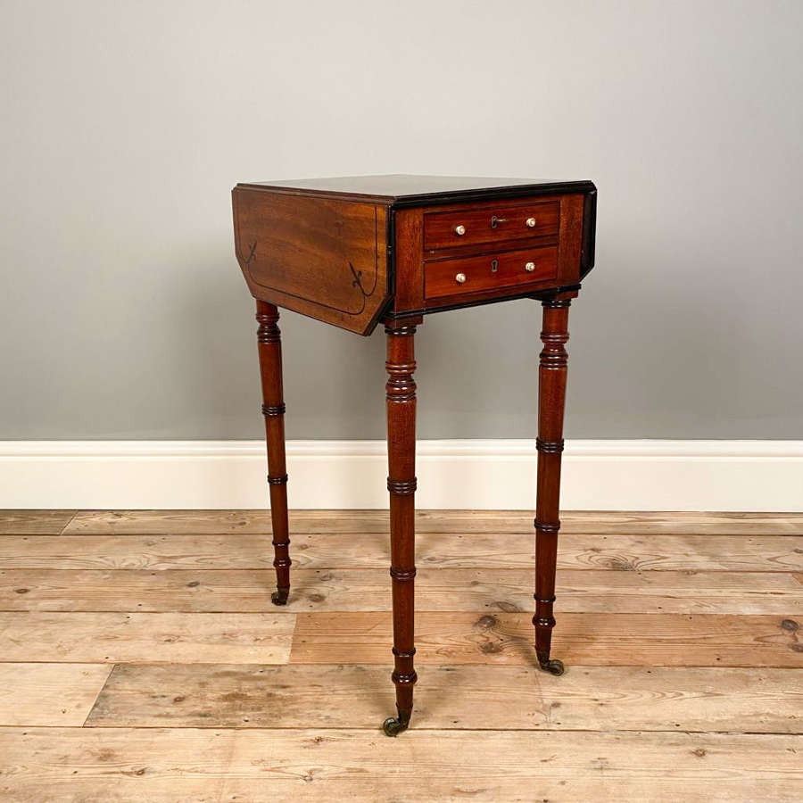 Small Regency Mahogany Sofa Table
