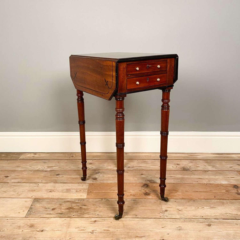 Small Regency Mahogany Sofa Table