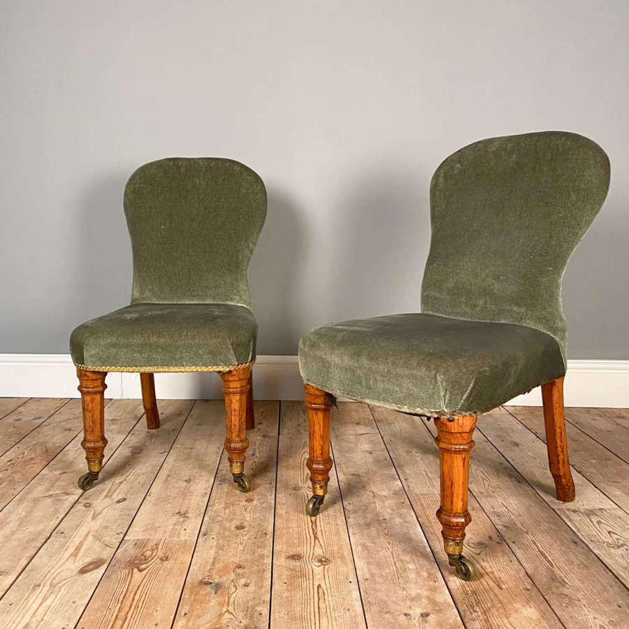 Holland & Sons Oak Slipper Chairs