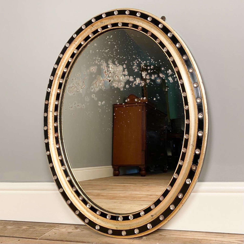 Irish Regency Oval Mirror - Wonderful Original Mirror Plate