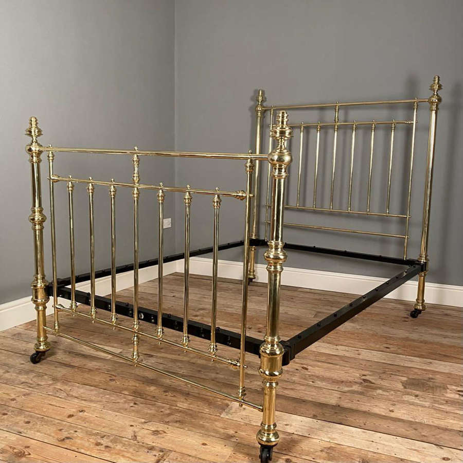 Classic Brass Double Bed by Hoskins & Sewell for Maple & Co.