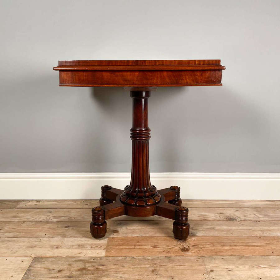 Little William IV Mahogany Occasional Card Table by Wilkinson, London