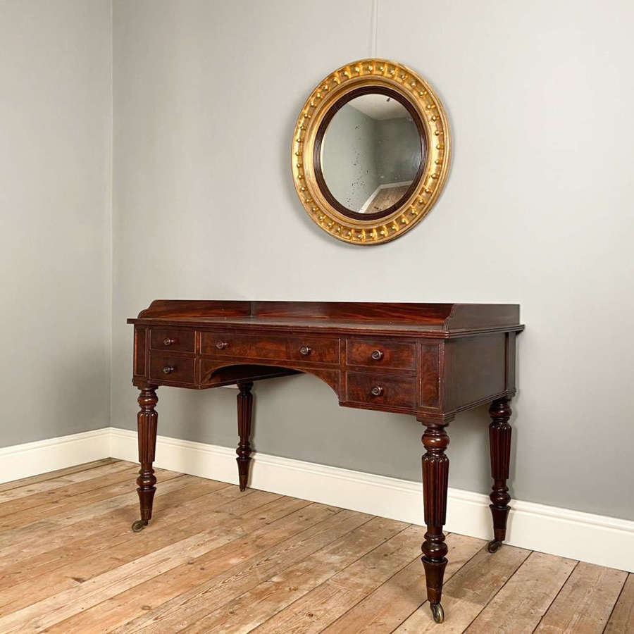 Large Regency Convex Giltwood Mirror