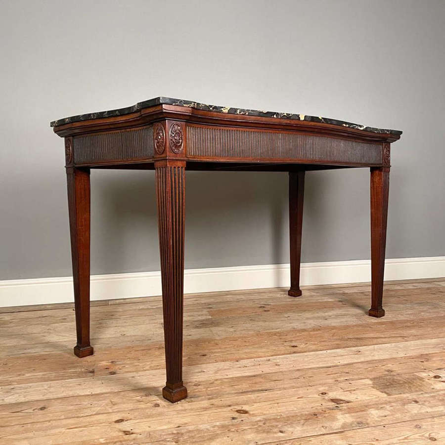 George II Style Marble Top Mahogany Serving / Console Table