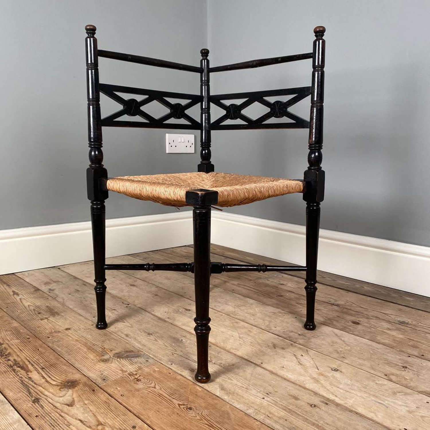 19th C Aesthetic Corner Chair in the Liberty Manner