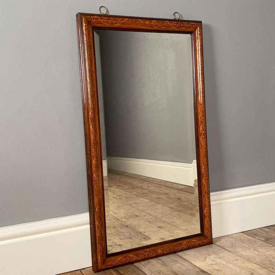 Gillows Cushioned Rosewood Inlaid Mirror