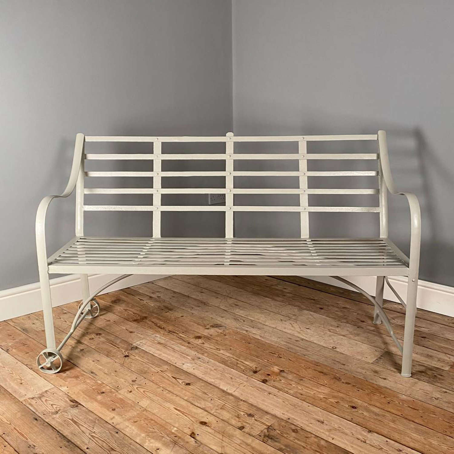 19th Century Wrought Iron Strap Work Bench