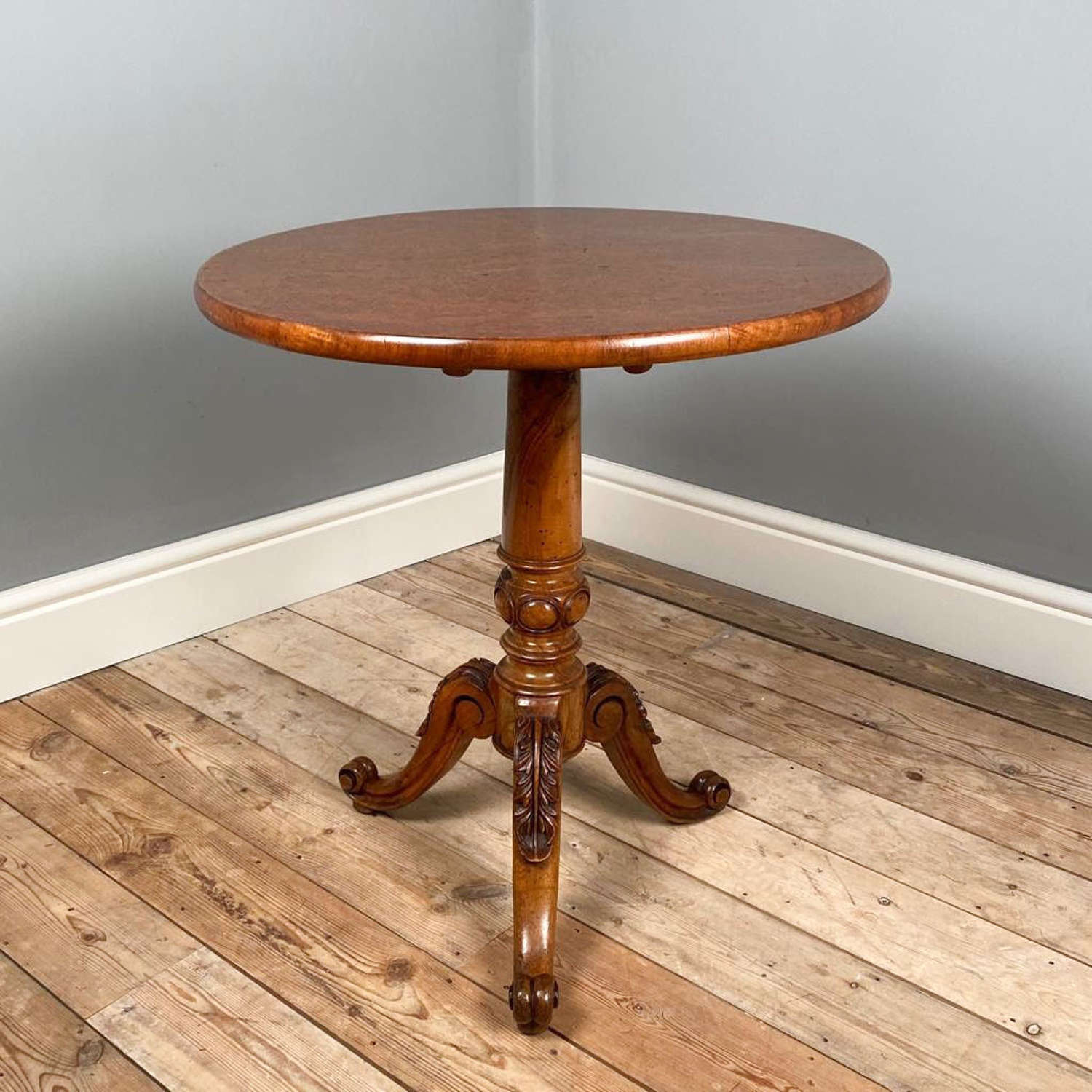 19th Century Elm and Walnut Occasional Table