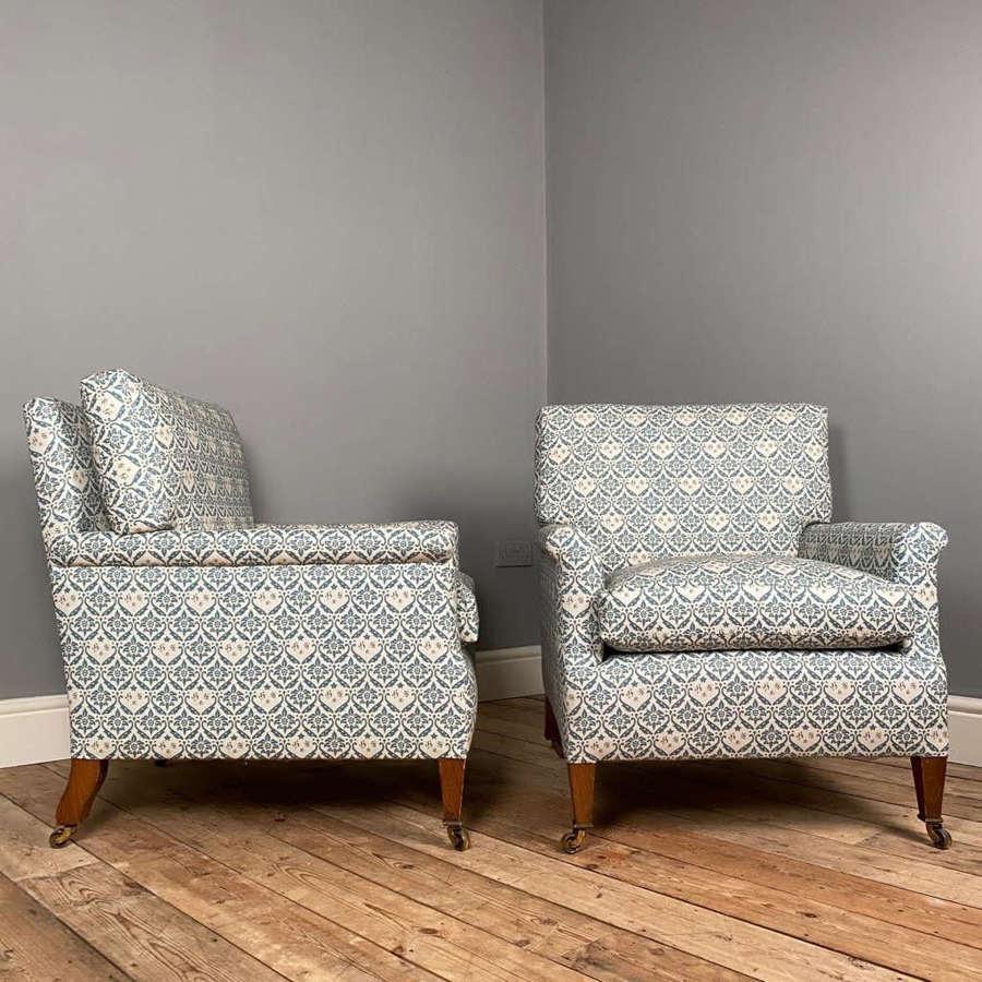 Pair of Howard & Sons Armchairs