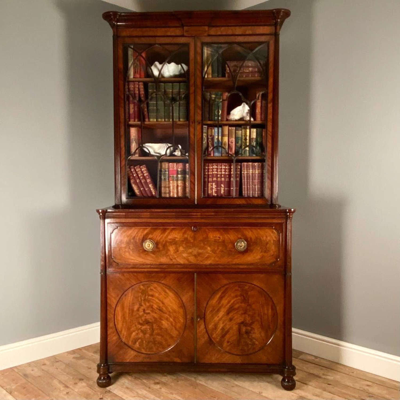 Superb Gillows Georgian Mahogany Bookcase