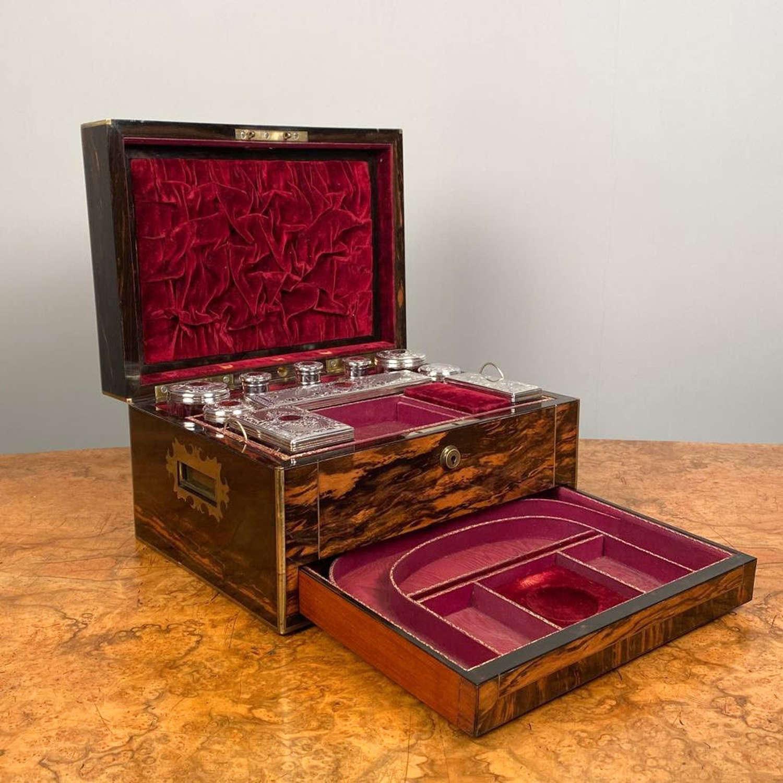 19th C. Coromandel Inlaid Vanity Box