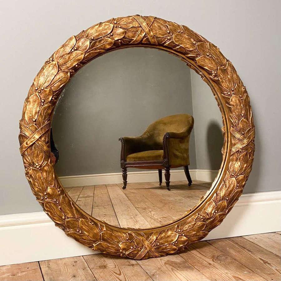 Stunning 19th Giltwood Wreath Mirror