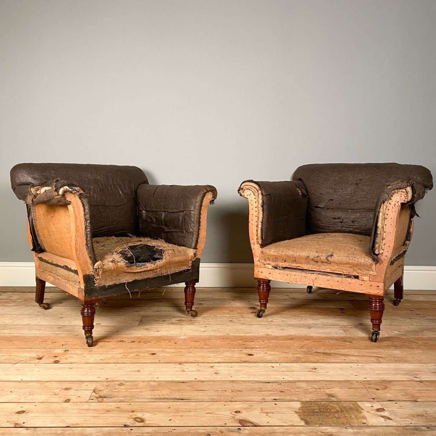 19th C Maple & Co Walnut Upholstered Chairs