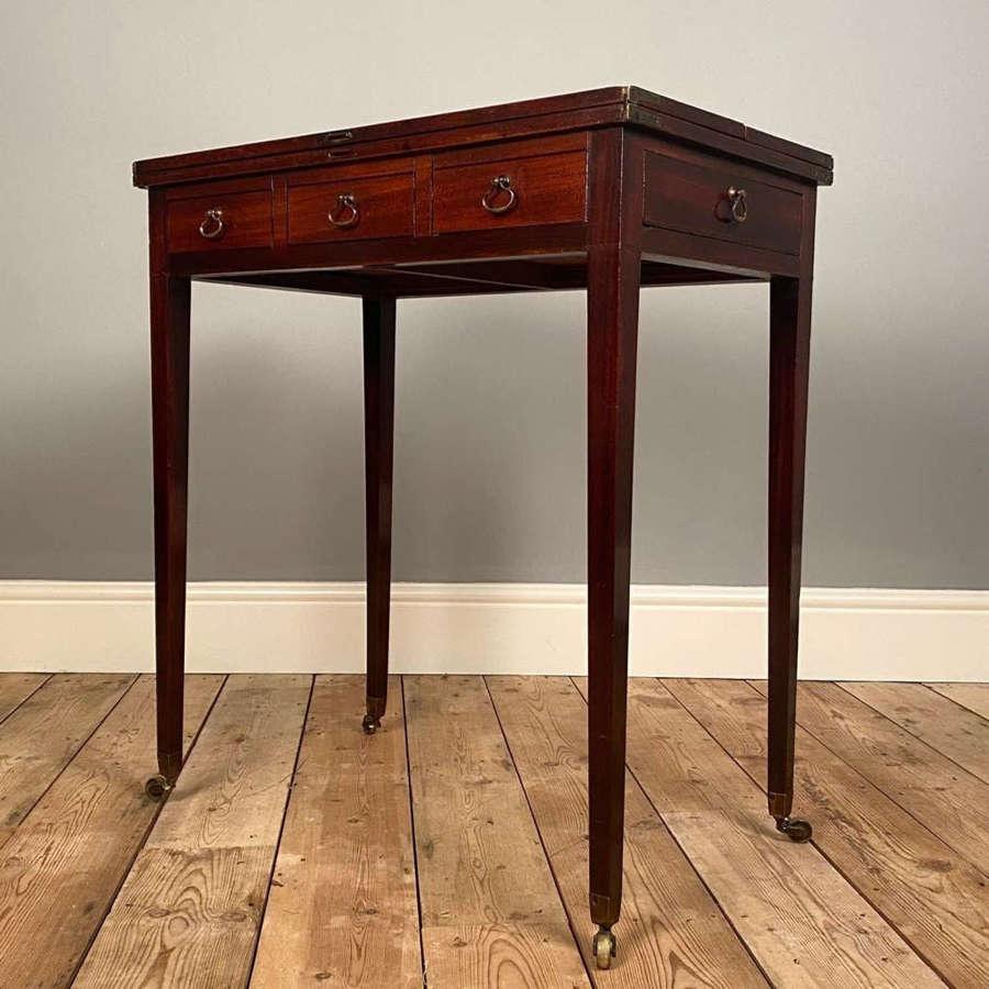 18th C. Small Mahogany Patience Table