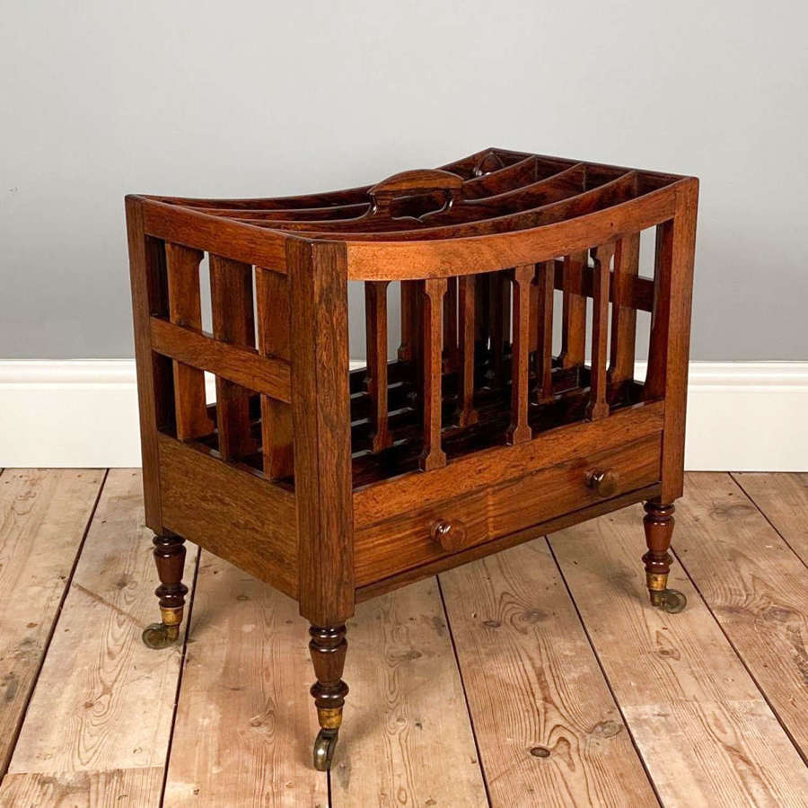 George IV Rosewood Canterbury attributed to Gillows