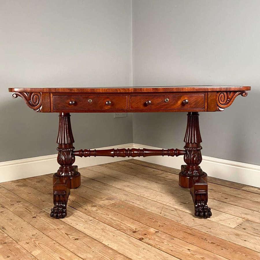 George IV Mahogany Library Writing Table