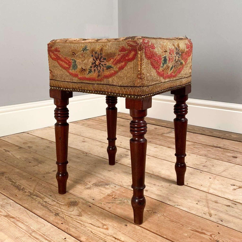 Early 19th C. Mahogany Dressing Table Stool