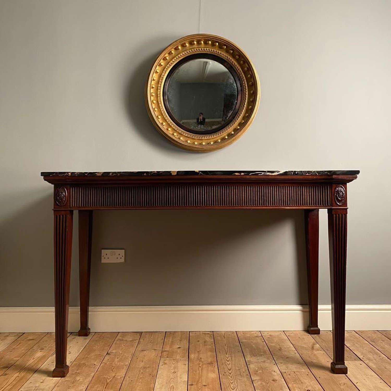 Large Regency Giltwood Convex Mirror