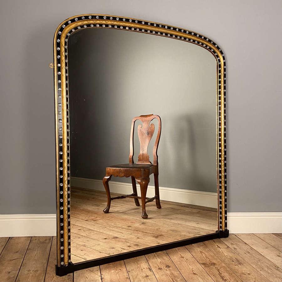 Rare 19th C Irish Overmantle Mirror