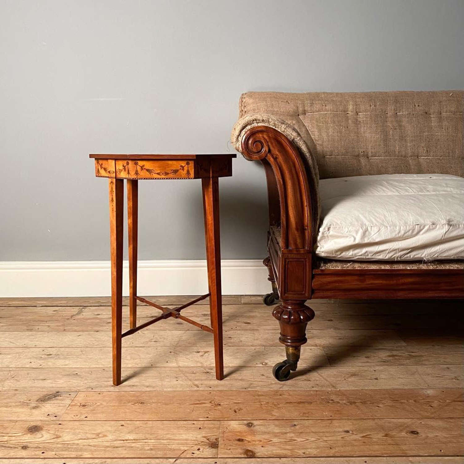 Small Gillows Satinwood Occasional Table