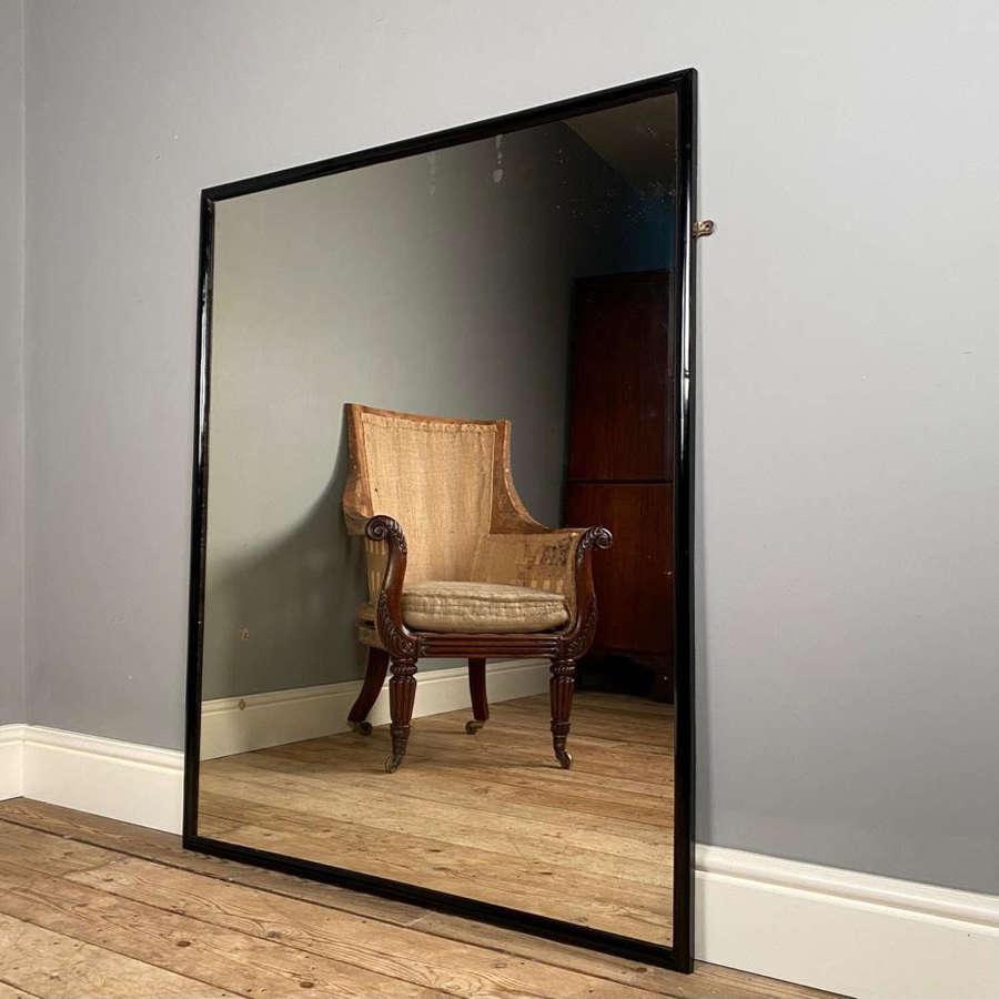 Edwardian Ebonised Bistro Mirror