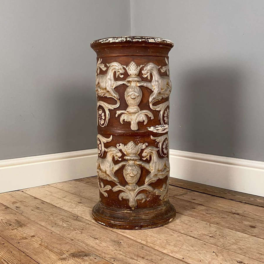 19th Century Glazed Terracotta Pedestal