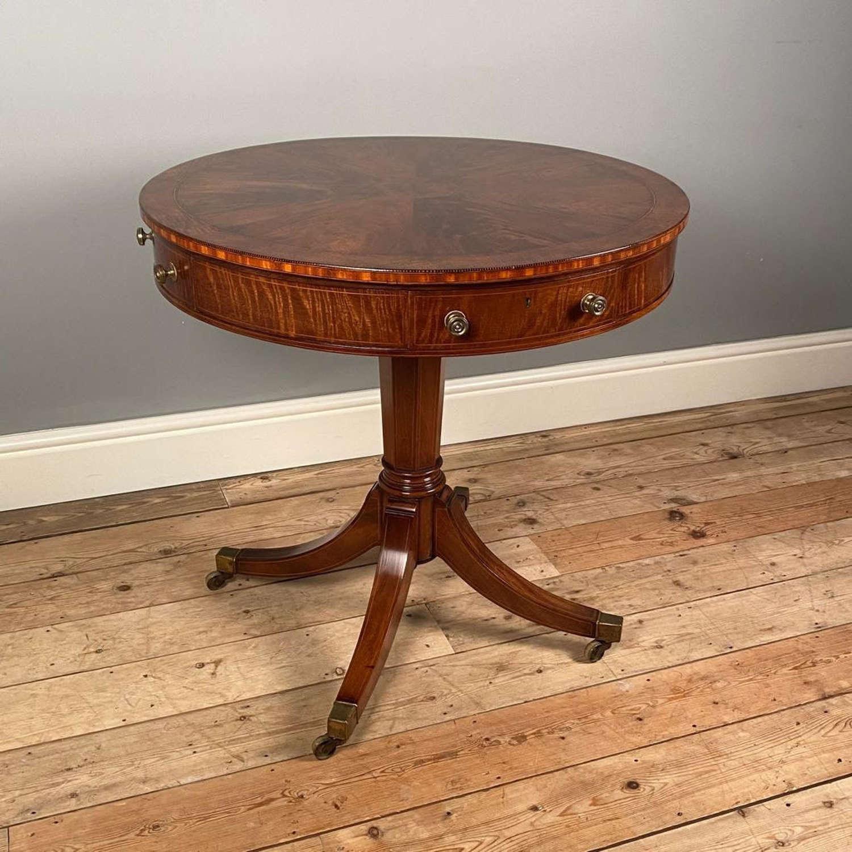 Edwardian Mahogany Drum Table