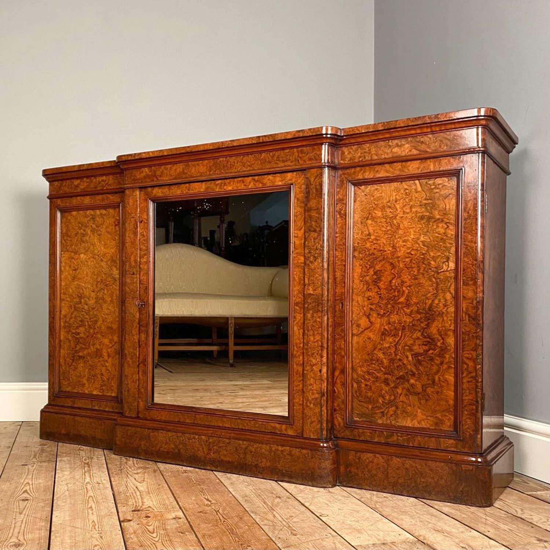Fine 19th C Burr Walnut Cabinet
