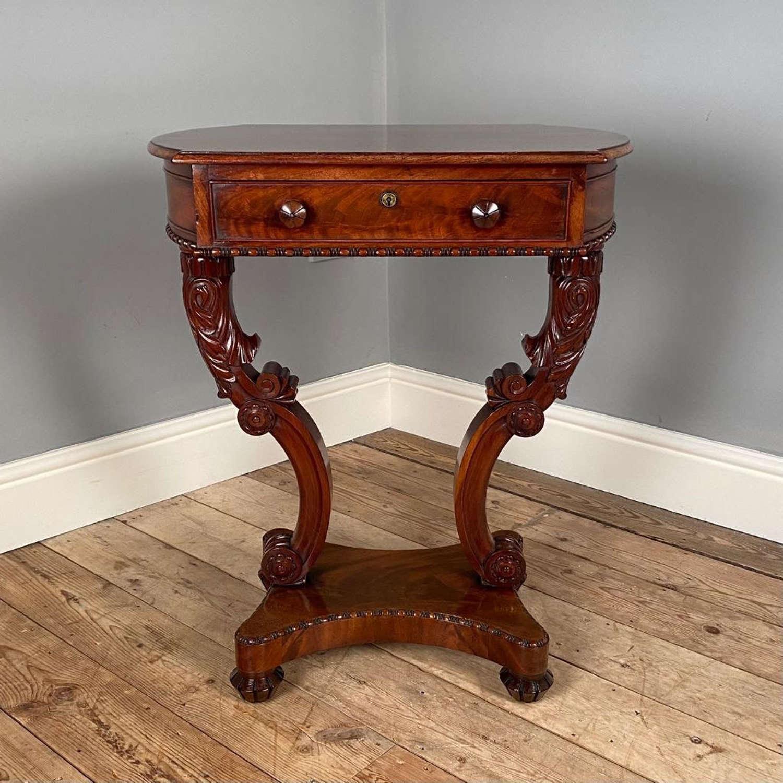 Striking Mahogany Occasional Table atb. Thomas King