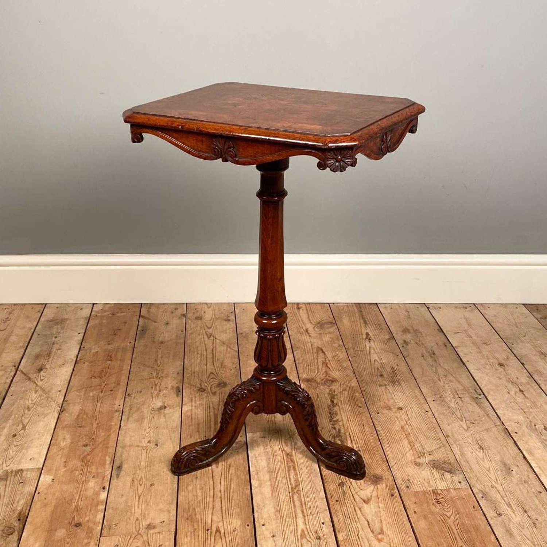 Small Gillows Burr Oak Tripod Table