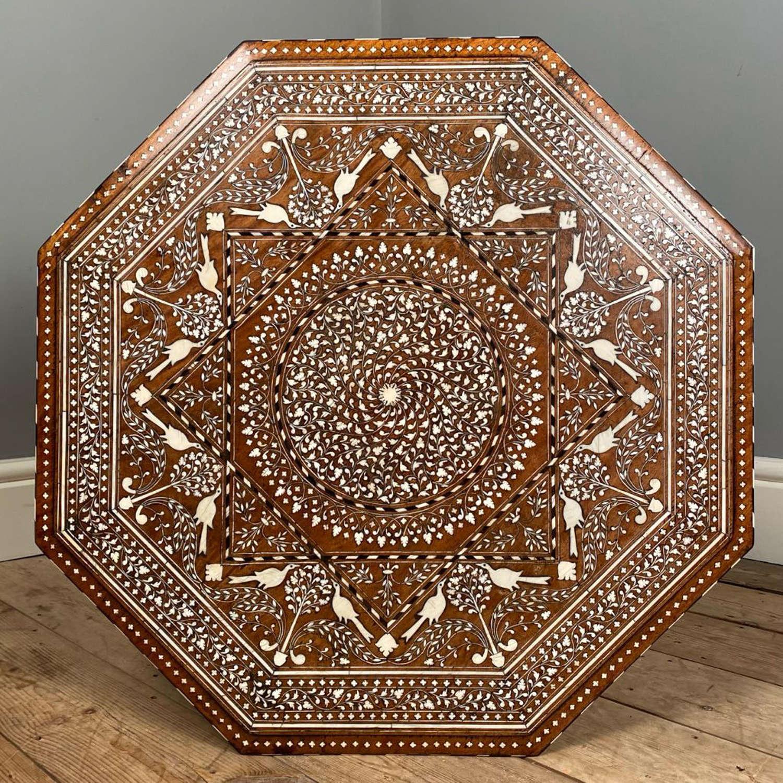 Beautiful Large 19th C Hoshiarpur Table