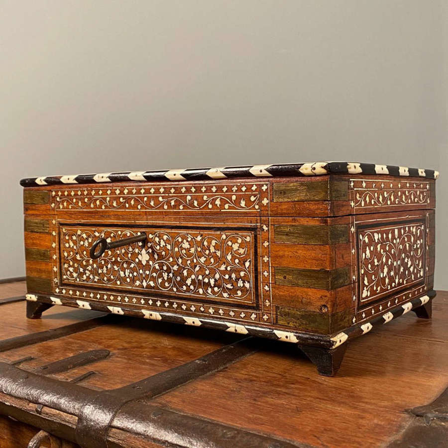 19th C Hoshiarpur  Inlaid Box